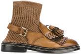 Santoni tassel detail sock boots