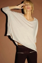 LnA Long Sleeve Cape Tee in Crane