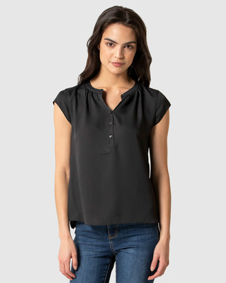 Forever New Annaliese Placket Jersey Back Essential