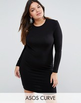 Asos Mini Long Sleeve Bodycon Dress