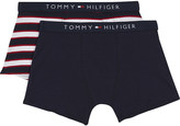 Tommy Hilfiger Pack of 2 striped and plain cotton boxer shorts 4-16 years