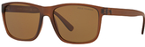 Polo Ralph Lauren PH4113 Polarised D-Frame Sunglasses, Matte Brown