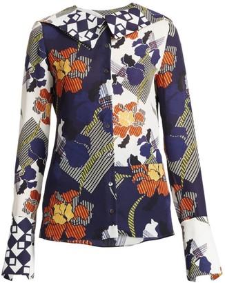 Roland Mouret Deimos Silk Floral Blouse