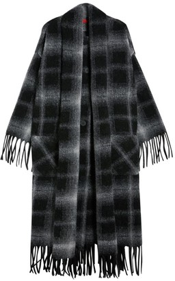Max & Co. Dark Check Blanket Coat