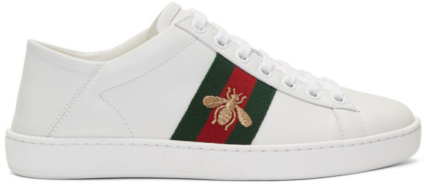 49b2028e3a6 Gucci Ace Leather Sneakers - ShopStyle