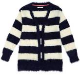 Nautica Girls' Fuzzy Striped Cardigan (8-16)