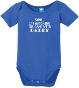 Sod Uniforms Watching The Game With Daddy Onesie Funny Bodysuit Baby Romper