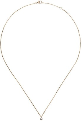 De Beers 18kt yellow gold My First one diamond pendant necklace