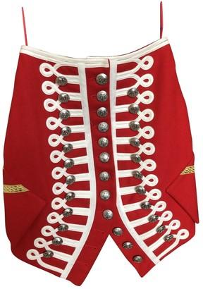 Burberry Red Wool Skirt for Women