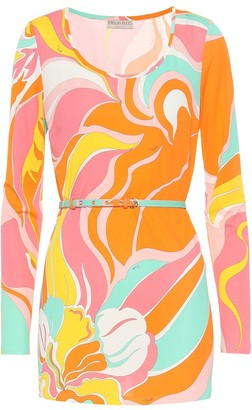 Emilio Pucci Printed silk-blend jersey top