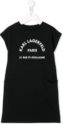 Karl Lagerfeld Paris logo sleeveless dress