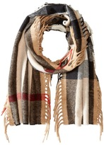 Burberry The Fringe Giant Exploded Check Scarf Scarves