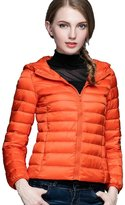 CHERRY CHICK Women's Packable Down Jacket with Hood Peacock Blue