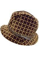 Grevi Printed Velvet Hat