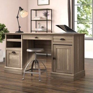 Beachcrest Home Stackhouse Executive Desk Color: Salt Oak