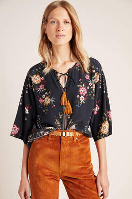 Anthropologie Farm Rio for Titania Peasant Blouse