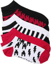 Betsey Johnson Women's Houndstooth Women's No Show Socks - 6 Pack