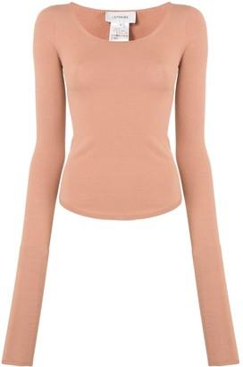 Lemaire scoop neck jersey knit T-shirt