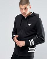 adidas Street Pack Zip Hoodie In Black AZ1120