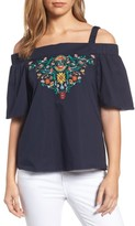 Wit & Wisdom Women's Embroidered Off The Shoulder Top