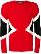 Neil Barrett symmetric graphic jumper