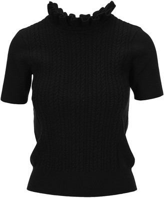 See by Chloe Ruffle Neck Knit Top