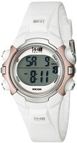 Timex Women's T5G881 1440 Digital Watch with White Resin Strap