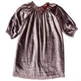 Marie Chantal Girls Velvet Dress - Berry