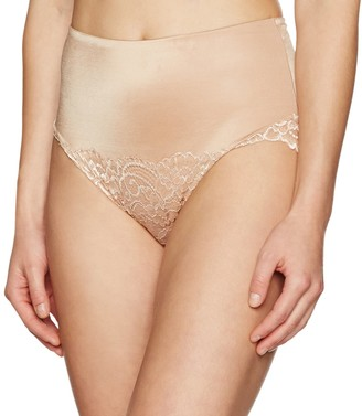 Arabella Women's Microfiber and Lace Tummy Control Brief Panties Shapewear