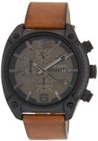 Diesel Men's Overflow Leather Strap Watch