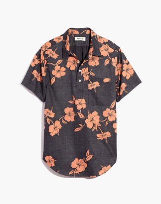 Madewell Short-Sleeve Perfect Pullover Shirt in Lei Away