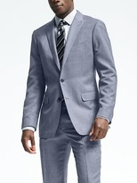 Banana Republic Standard Light Blue Wool Suit Jacket