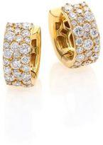 Ippolita Glamazon Stardust Diamond & 18K Yellow Gold Huggie Hoop Earrings/0.55