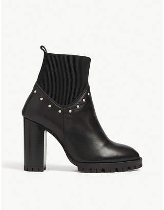 The Kooples Block heel leather ankle boots