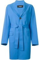 DSQUARED2 belted coat - women - Cotton/Polyester/Spandex/Elastane/Polyimide - 42