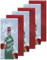 The Big One 6-pc. Wine Kitchen Towel Set