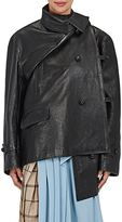Balenciaga Women's Crossover-Front Leather Jacket