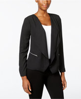 NY Collection Petite Open-Front Cascade Jacket