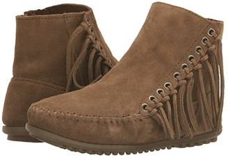 Minnetonka Willow Boot (Dusty Brown Suede) Women's Pull-on Boots