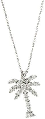 Roberto Coin Tiny Treasures 18K White Gold & Diamond Palm Tree Pendant Necklace