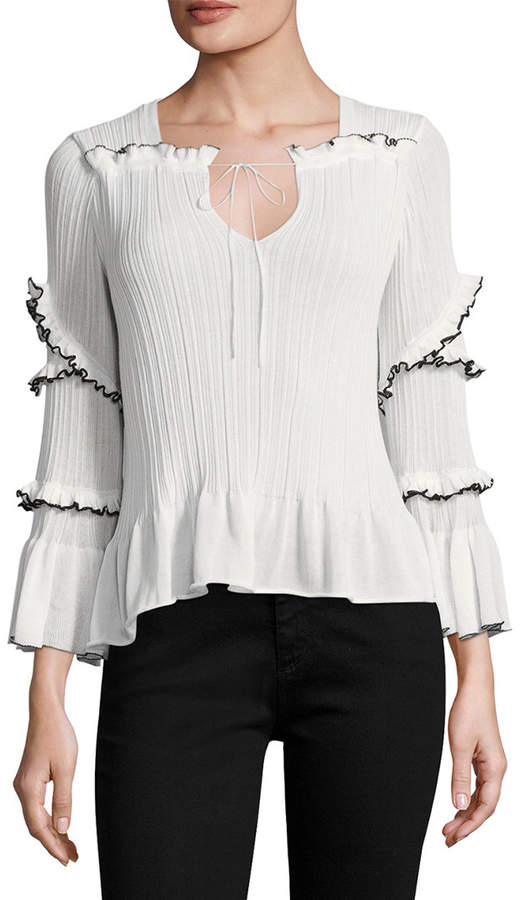 Derek Lam 10 Crosby Ruffle Sweater