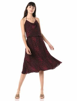 Dress the Population Women's Zherra Sleeveless Halter Blouson Short Dress