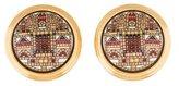 Hermes Enamel Button Clip-On Earrings