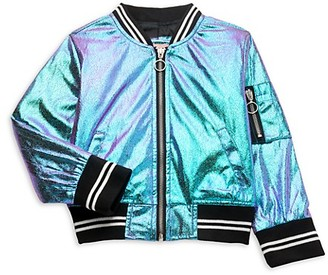 Urban Republic Little Girl's Metallic Bomber Jacket