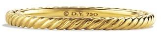 David Yurman Cable Classics Band Ring in 18K Yellow Gold