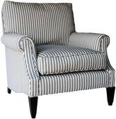 Barclay Butera Bentley Club Chair, Blue/Oyster