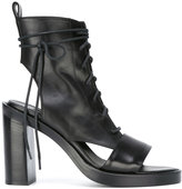 Ann Demeulemeester open-toe and heel ankle boot - women - Calf Leather/Leather - 38