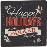 Personal Creations Personalized Set of 4 Happy Holidays Coasters