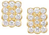 Jamie Wolf 18k Small Rectangle Diamond Stud Earrings