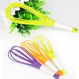 Rotatable Whisk Eggbeater for Kitchen Gadgets Stirring Whisk Mixer Multifunctional Rotary Egg Beater Random Color -Pier 27